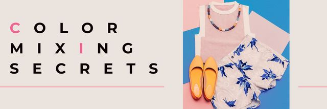 Template di design Color mixing secrets banner Twitter