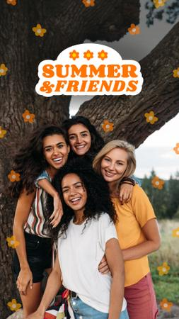 Plantilla de diseño de Summer Inspiration with Friends near Tree Instagram Story