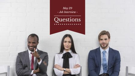 Template di design Business people waiting for Job Interview FB event cover