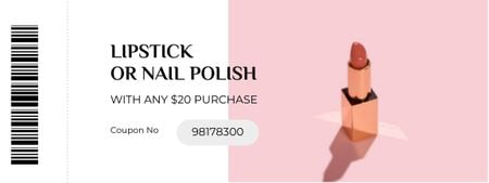 Cosmetics offer with Lipstick Coupon – шаблон для дизайна
