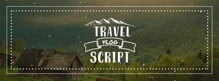 Travel Vlog promotion on Scenic Mountain View Facebook cover – шаблон для дизайна
