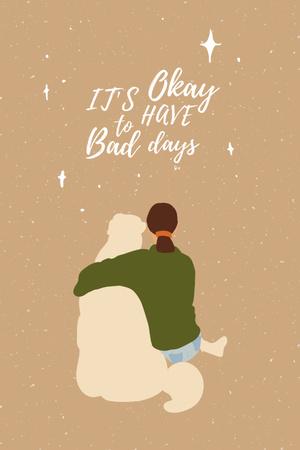 Inspirational illustration about Mental Health Pinterest Design Template
