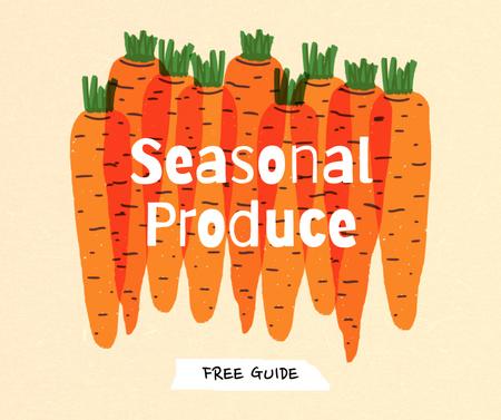 Plantilla de diseño de Seasonal Produce Ad with Carrots Illustration Facebook