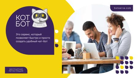 Business Team Working in Office in Yellow Full HD video – шаблон для дизайна