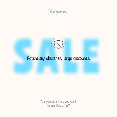 Funny Creative Sale Announcement Instagram – шаблон для дизайна