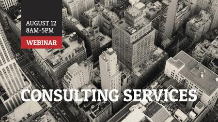 Template di design Consulting Agency Ad Modern Skyscrapers FB event cover