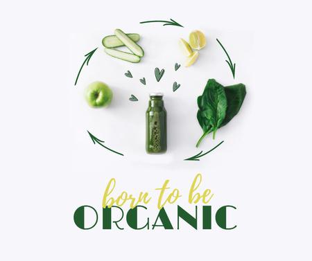 Ontwerpsjabloon van Facebook van Organic Natural Product making