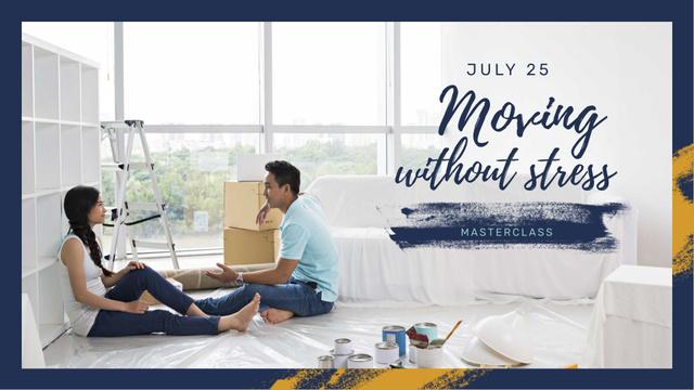 Szablon projektu Couple repairing New House FB event cover