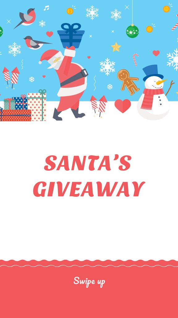 Ontwerpsjabloon van Instagram Story van New Year Special Offer with Cute Santa