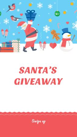 New Year Special Offer with Cute Santa Instagram Story Modelo de Design
