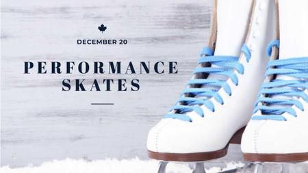 Skates Performance Event Announcement FB event cover Design Template