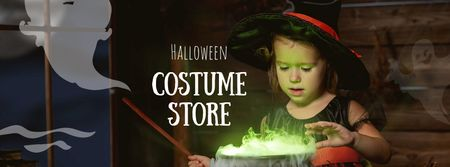 Halloween Costume Store Offer Facebook coverデザインテンプレート