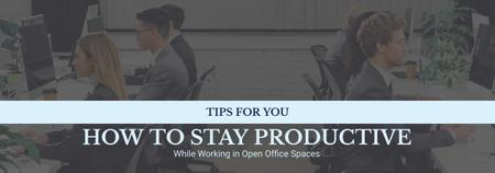 Modèle de visuel Productivity Tips Colleagues Working in Office - Tumblr