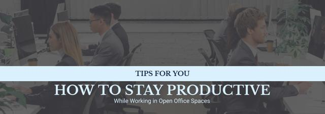 Productivity Tips Colleagues Working in Office Tumblr Design Template