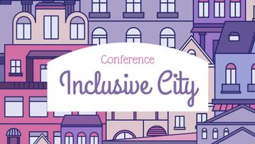 Conference Announcement with City illustration