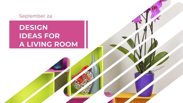 Platilla de diseño Flower in Vase for Home Decor FB event cover