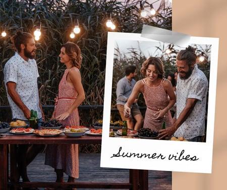 People on Cozy Night Summer Party Facebook Modelo de Design