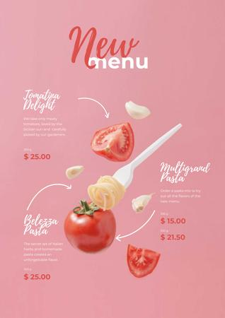 Pasta dish with Tomatoes Poster Modelo de Design