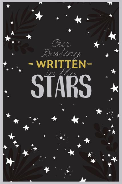 Astrology Inspiration with Cute Stars Pinterest – шаблон для дизайну