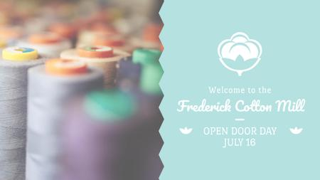 Clothing Industry Spools with Colorful Thread FB event coverデザインテンプレート