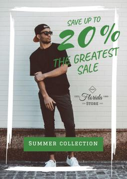 Fashion sale Ad with Stylish Man