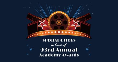 Ontwerpsjabloon van Facebook AD van Annual Academy Awards Announcement