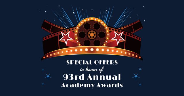 Modèle de visuel Annual Academy Awards Announcement - Facebook AD
