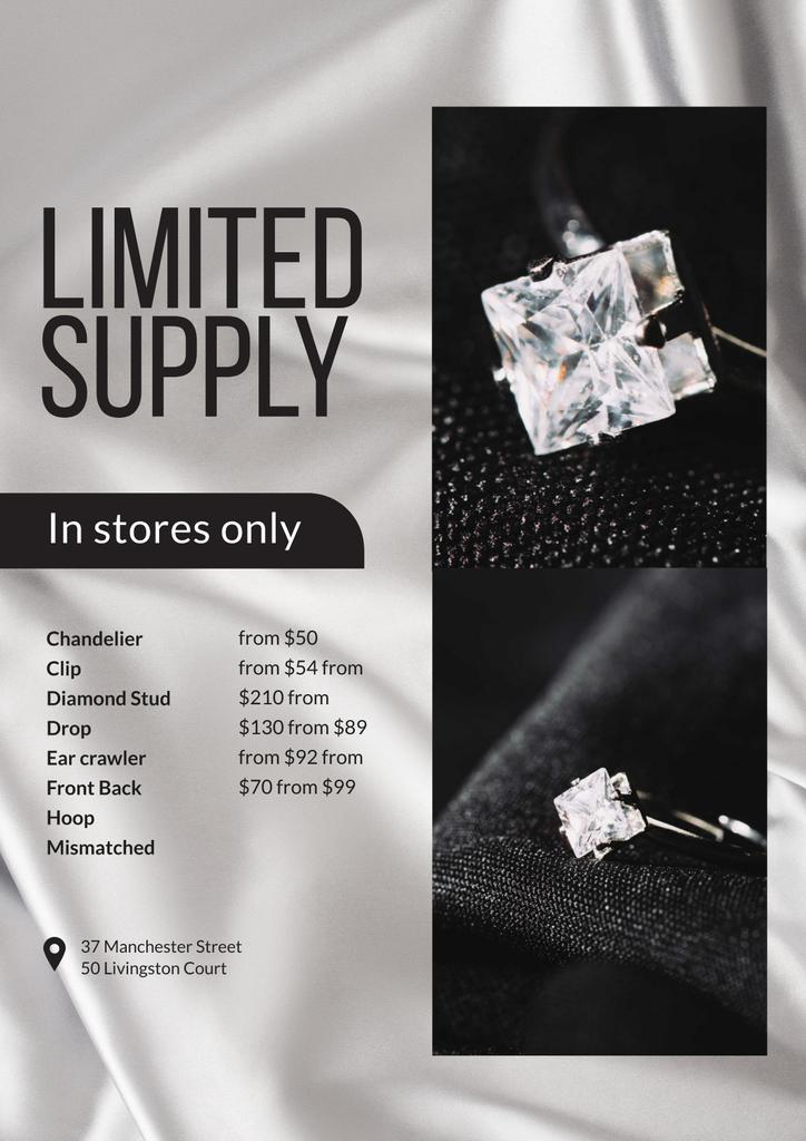Jewelry Store Promotion with Ring with Diamond — Maak een ontwerp