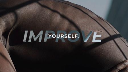 Motivational Phrase with Athlete doing Workout Full HD video Modelo de Design
