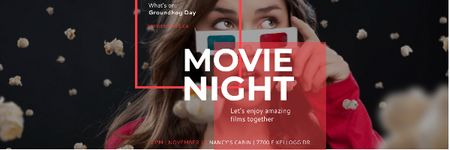 Plantilla de diseño de Movie night event Announcement Email header