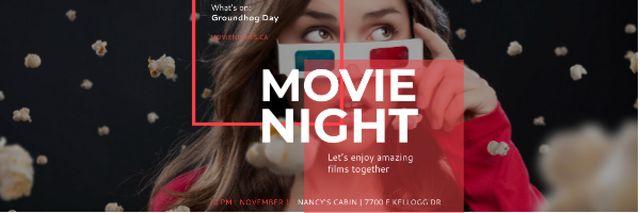 Movie night event Announcement Email header – шаблон для дизайна