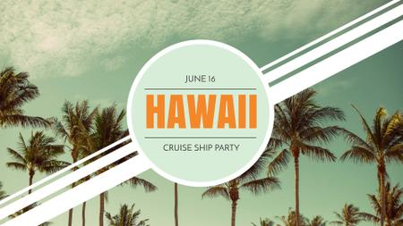 Template di design Hawaii Trip Offer with Palm Trees FB event cover
