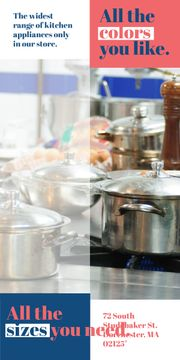 Kitchen Utensils Store Ad Pots on Stove