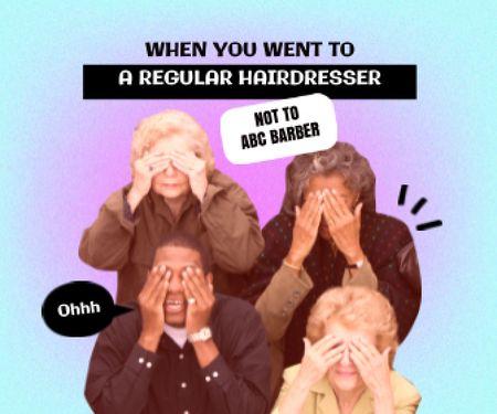 Joke about visiting Hairdresser Large Rectangle – шаблон для дизайну