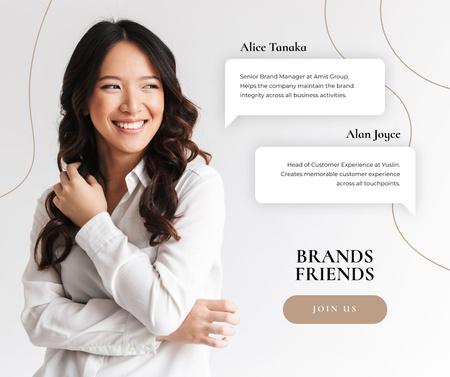Plantilla de diseño de Professional Branding agency worker Facebook