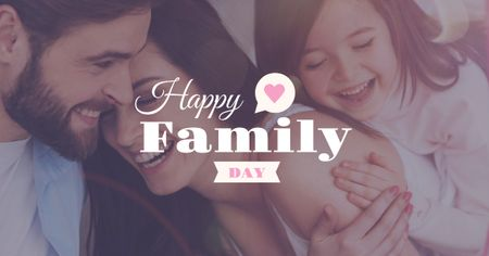 Template di design Happy family day Greeting Facebook AD
