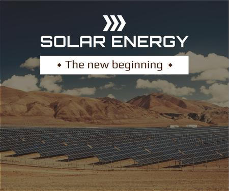 Modèle de visuel Energy Supply Solar Panels in Rows - Facebook