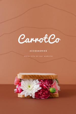 Plantilla de diseño de Accessories Sale Offer with Flowers in Bread Pinterest