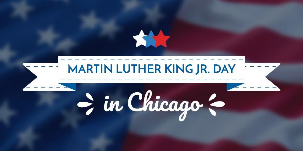 Plantilla de diseño de Martin Luther King day Twitter