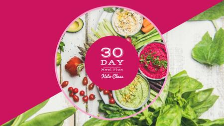 Dips with greens and vegetables FB event cover Design Template