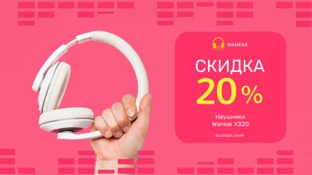 Special Sale with Man holding headphones Full HD video – шаблон для дизайна