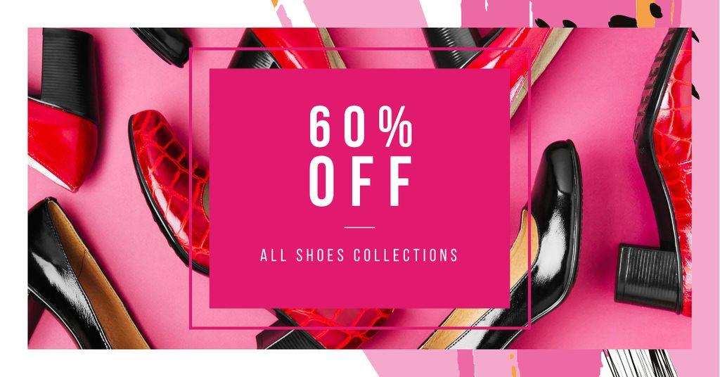 Modèle de visuel Shoes Store Special Discount Offer - Facebook AD