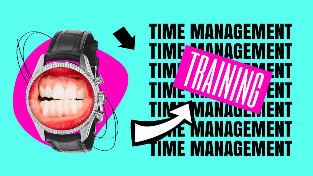 Plantilla de diseño de Funny Illustration with Human Teeth on Clock Dial Youtube Thumbnail
