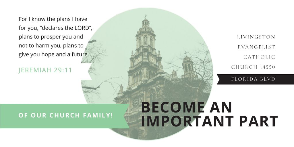 Plantilla de diseño de Livingston Evangelist Catholic Church Image