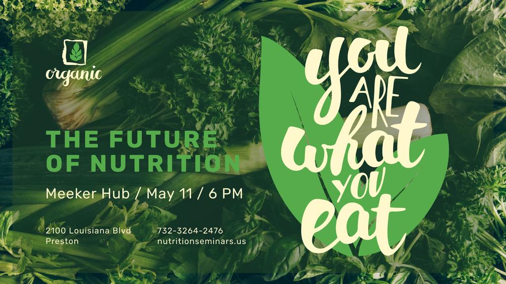 Nutrition Lecture announcement with Green Food — Maak een ontwerp