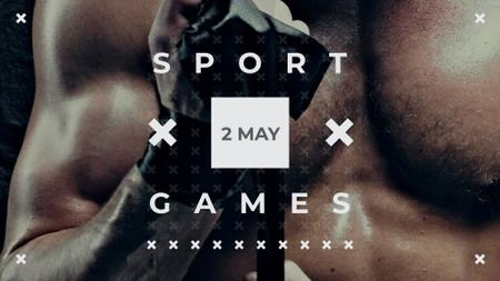 Sport games Announcement with Boxer FB event cover – шаблон для дизайну