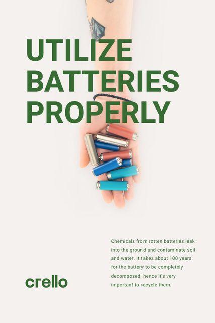 Szablon projektu Utilization Guide Hand Holding Batteries Tumblr