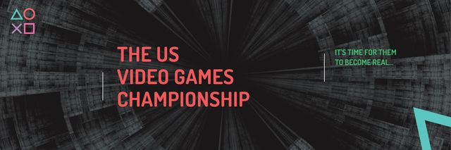 Video games Championship  Twitter – шаблон для дизайну
