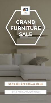 Grand furniture sale poster
