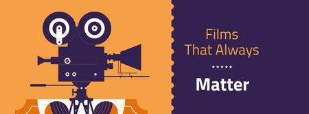 Plantilla de diseño de Film Festival Announcement with Movie Projector Facebook cover
